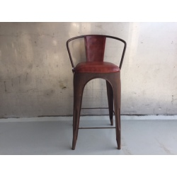 Bairchair leather seat/back 75/100cm