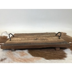 Old wooden tray 45x30cm