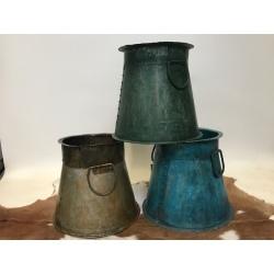 Iron pot vase +/_ H30xD30cm