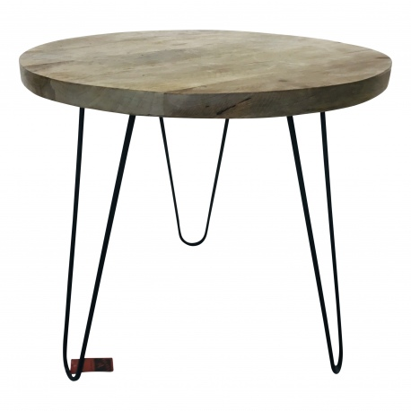 Table iron/wood 55x55