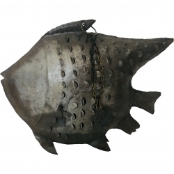 Fish steel antique 50x40cm