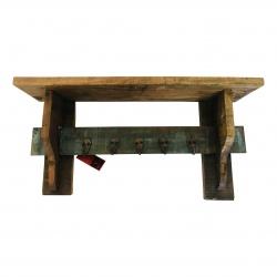 Shelve 5-hook recycled wood(5543)