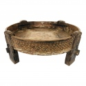 Antique wooden chakki/table