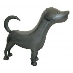 Dog steel finish 40x35cm