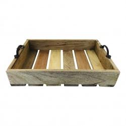 Wooden tray mango 39x27H8cm(5453)