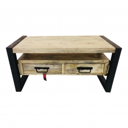 2-drawer side table iron frame(5664)