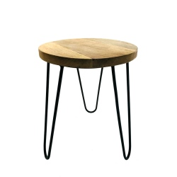 Stool black wooden top