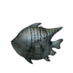 Fish steel antique 85x67cm