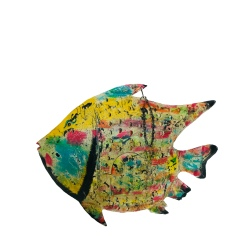 Iron big fish Picasso 85x17x67cm