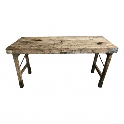 Old market folding table 175x60H80cm