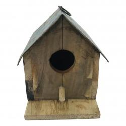 Birdhouse iron/wood 20x20cm