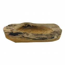 Bowl teak rectangular