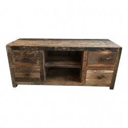 Cabinet old wood 4 draw (5812)
