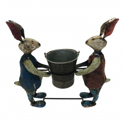 2-Rabbit with bucket 50x51cm(5794)