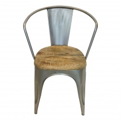 Retro chair steel finish
