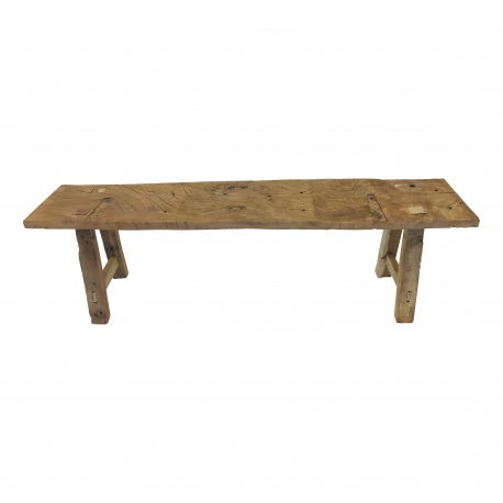 Wooden bench antique L(5785)