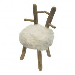 Stool with fur (5883)