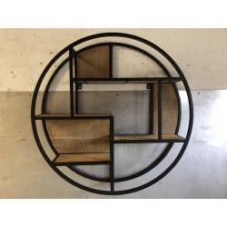 Round wallshelve D80 black (3067)