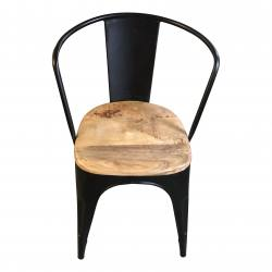 Retro chair black finish