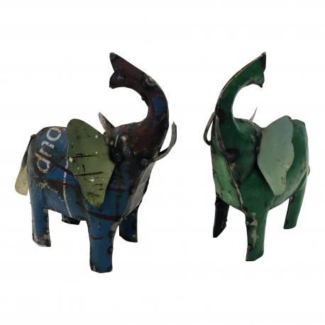 Old iron elephant 23x23cm(5181)
