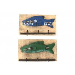 Iron fish hanger 3-h(5661)