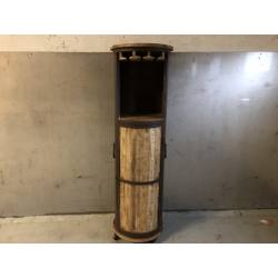 Wine cabinet wheels D45H150cm(3452)